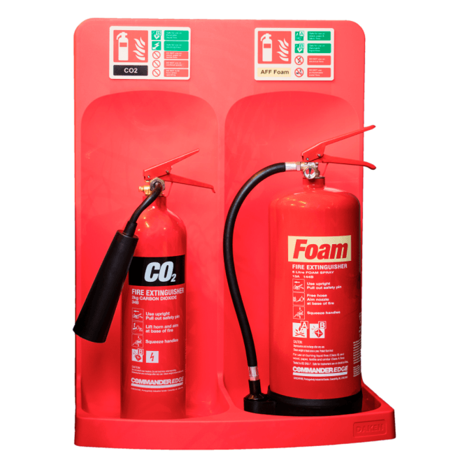 CheckFire Commander Double Extinguisher Stand Red