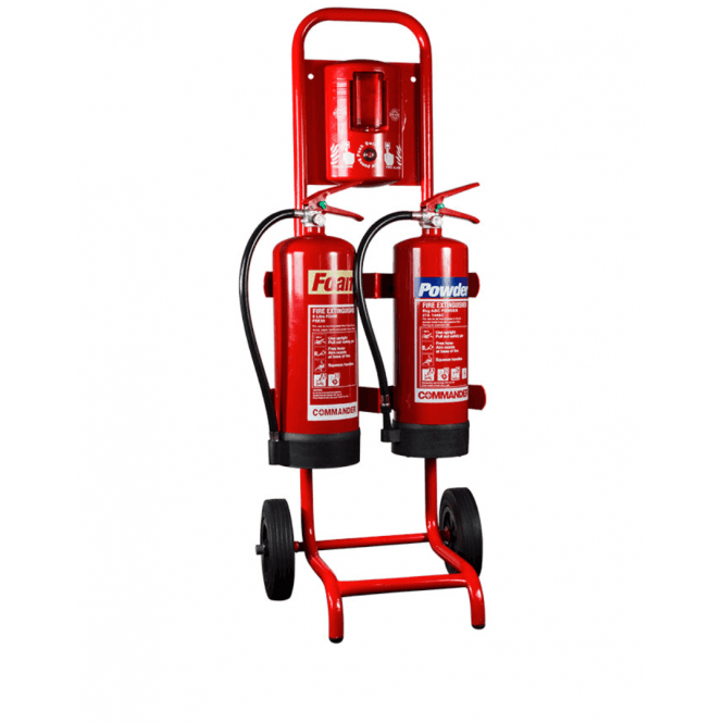 CheckFire Compact Double Extinguisher Trolley