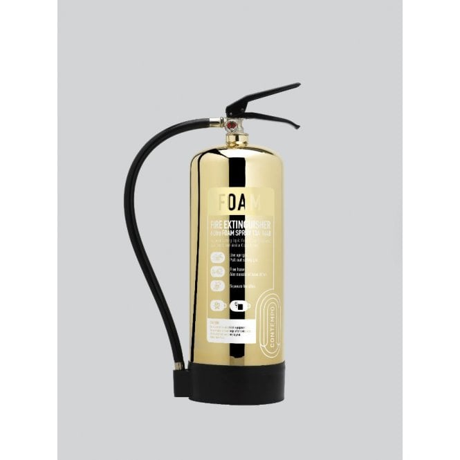 CheckFire - Contempo 6 Litre Foam Extinguisher - Polished Gold