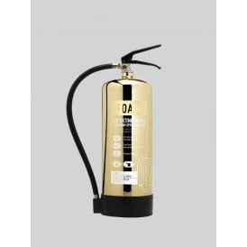 6 Litre Foam Extinguisher - Polished Gold