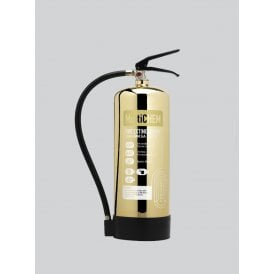 6 Litre MultiCHEM Extinguisher - Polished Gold