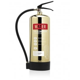 6 Litre Water Extinguisher - Polished Gold