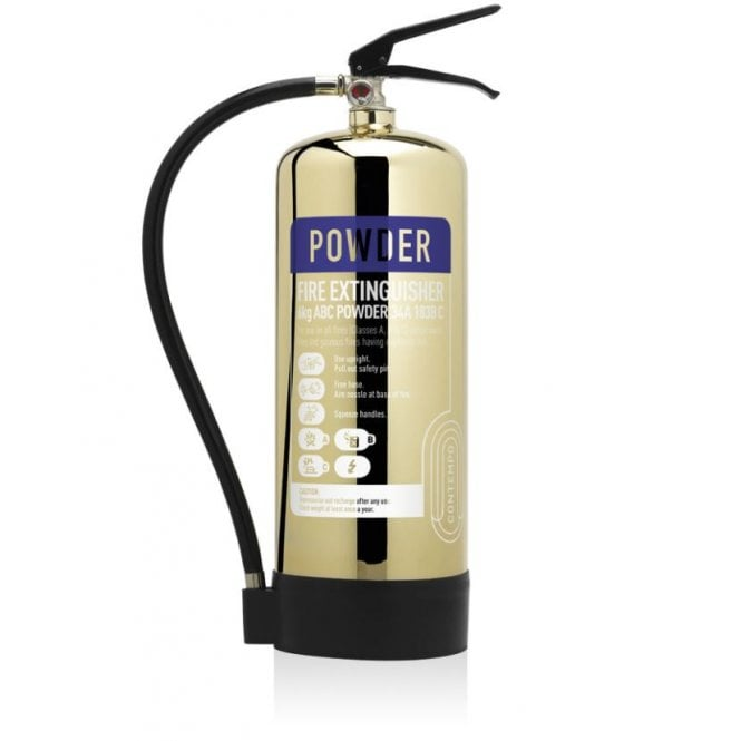 CheckFire - Contempo 6KG Dry Powder Extinguisher - Polished Gold