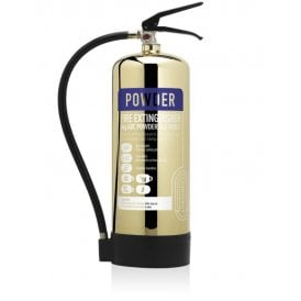 6KG Dry Powder Extinguisher - Polished Gold