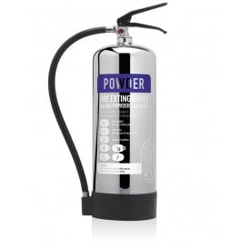 9KG Dry Powder Extinguisher - Stainless Steel