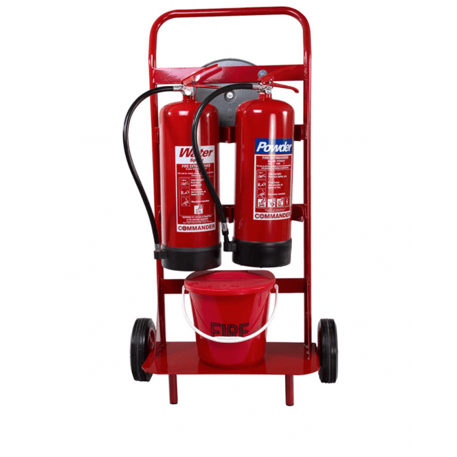 CheckFire Double Extinguisher Trolley