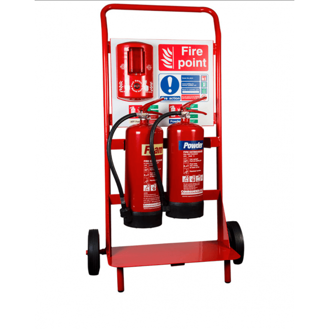 CheckFire Double Extinguisher Trolley with Backboard