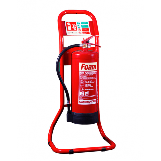 CheckFire Single Tubular Extinguisher Stand Red