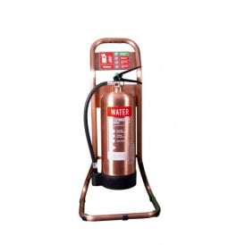 Single Tubular Fire Extinguisher Stand - Antique Copper