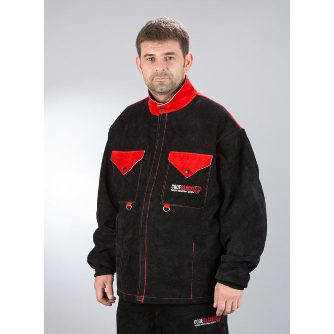 Code Black Full Leather Welding Jacket