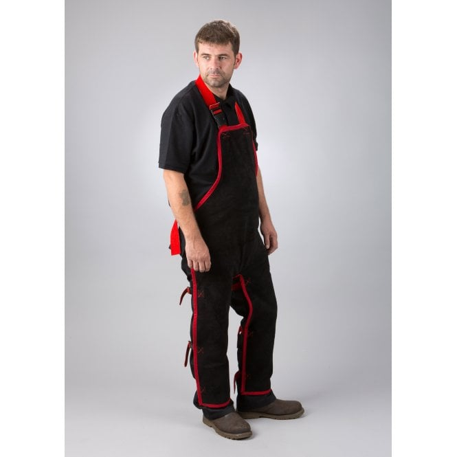Code Black Welding Apron Chaps to Ankle
