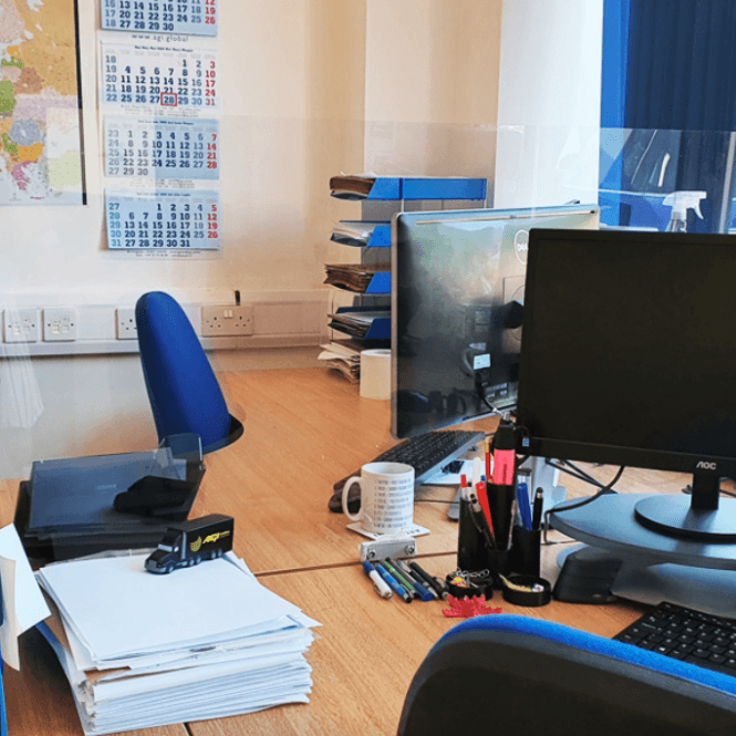 FirePro Plus ACRYLIC DESK SCREENS WITH PRE-DRILLED BRACKETS