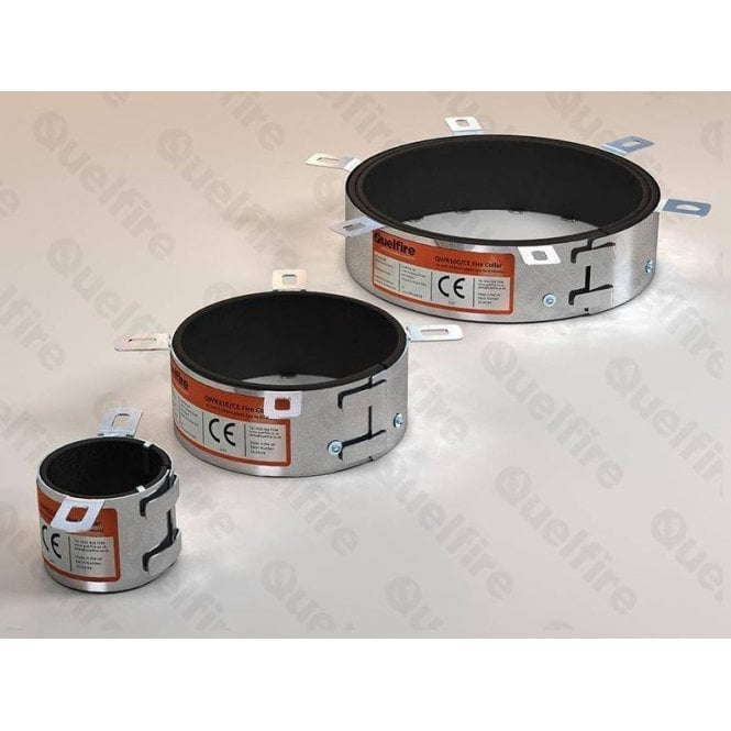 Quelfire Intumescent Fire Collar for Plastic Pipes